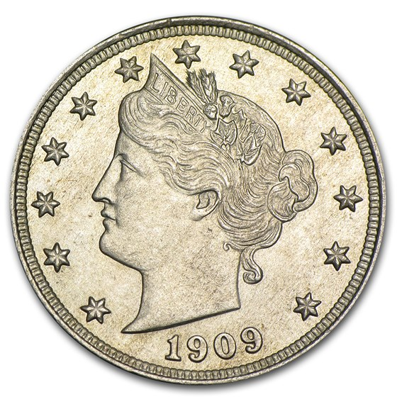 1909 Liberty Head V Nickel MS-63 Details (Cleaned)