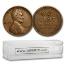 1909 Lincoln Cent 50-Coin Roll Avg Circ
