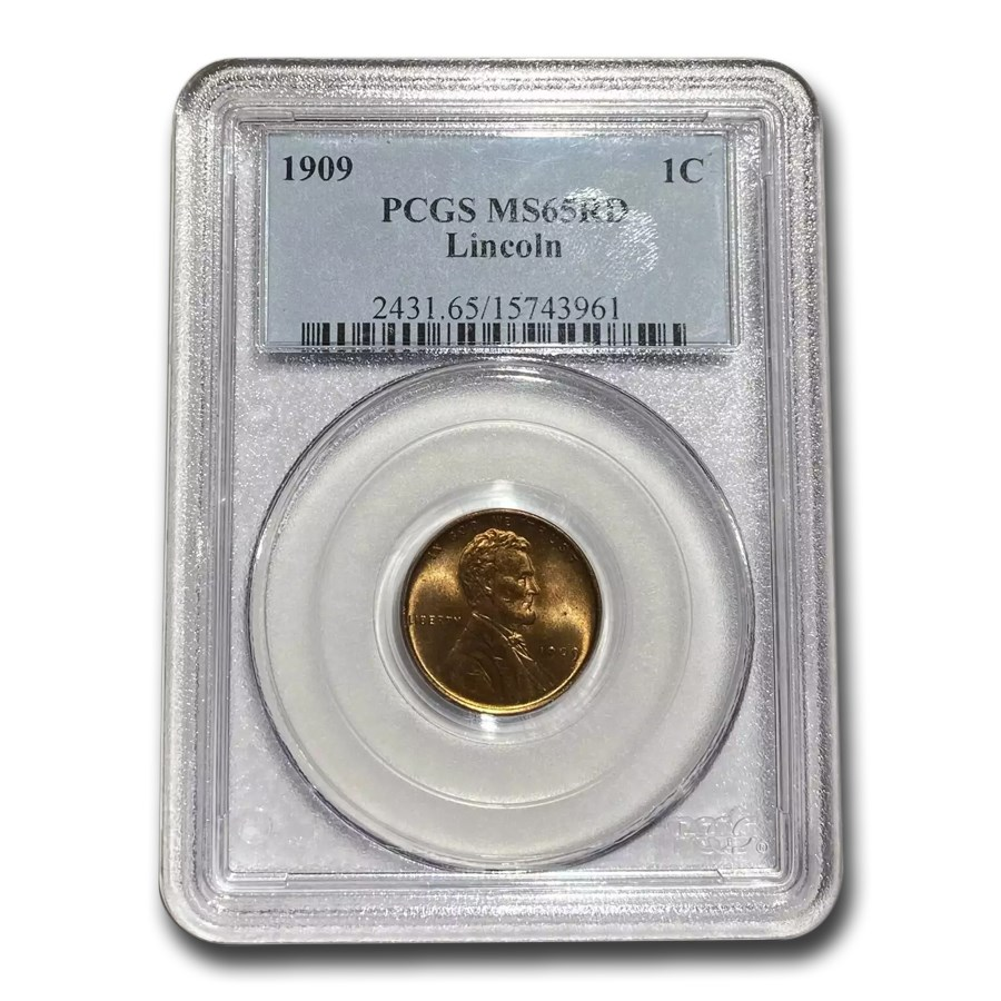 1909 Lincoln Cent MS-65 PCGS (Red)