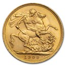 1909-M Australia Gold Sovereign Edward VII BU
