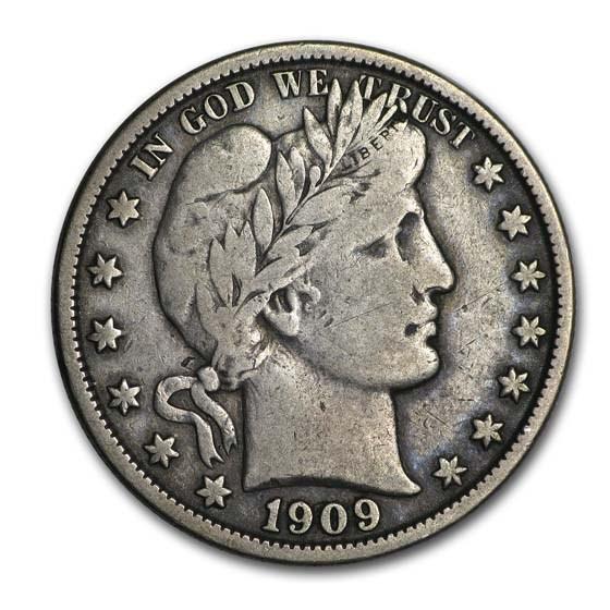 1909-O Barber Half Dollar VF