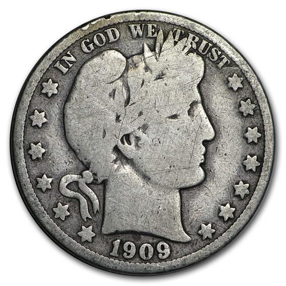 1909-O Barber Half Dollar VG