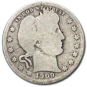 1909-O Barber Quarter AG