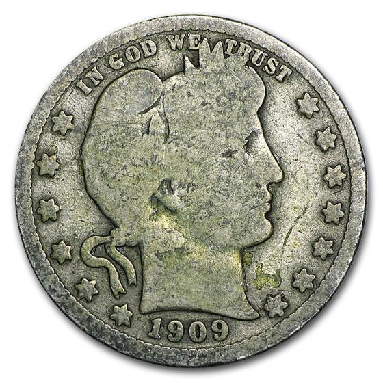 1909-O Barber Quarter Good