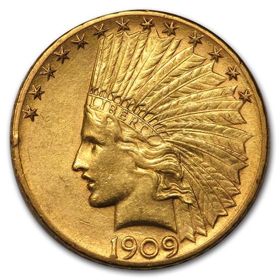 1909-S $10 Indian Gold Eagle AU