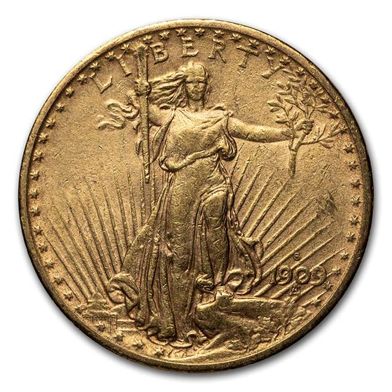 1909-S $20 Saint-Gaudens Gold Double Eagle XF