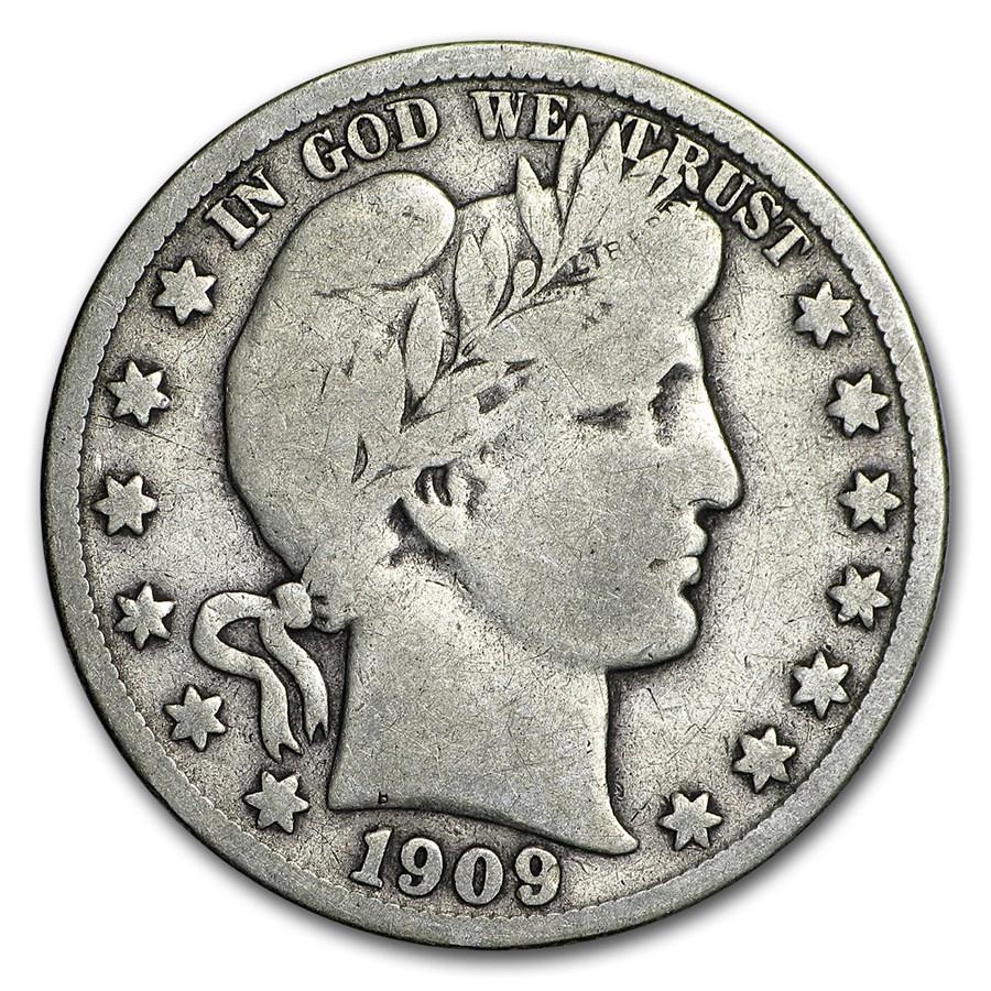 1909-S Barber Half Dollar Fine