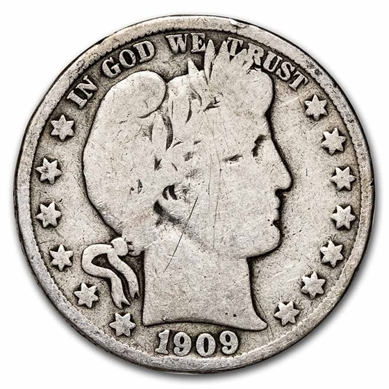 1909-S Barber Half Dollar Good