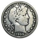 1909-S Barber Half Dollar VG