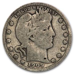 1909-S Barber Quarter Good