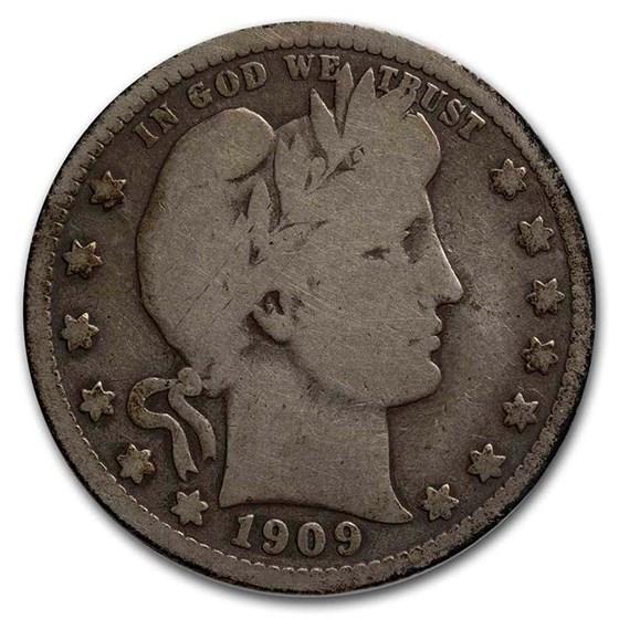 1909-S Barber Quarter VG