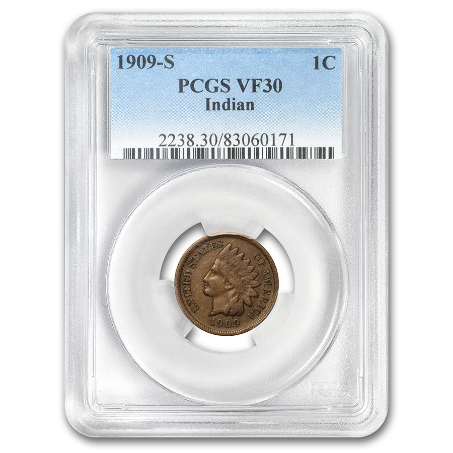 1909-S Indian Head Cent VF-30 PCGS