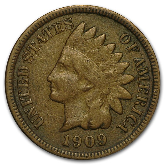 1909-S Indian Head Cent VG