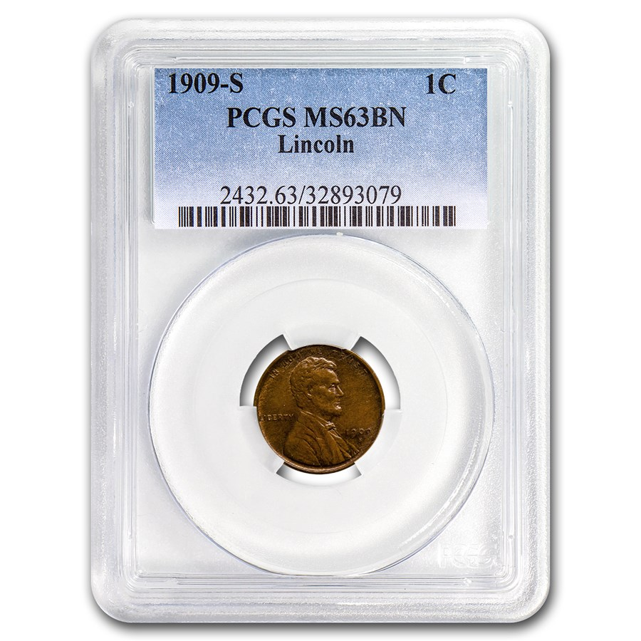 1909-S Lincoln Cent MS-63 PCGS (Brown)