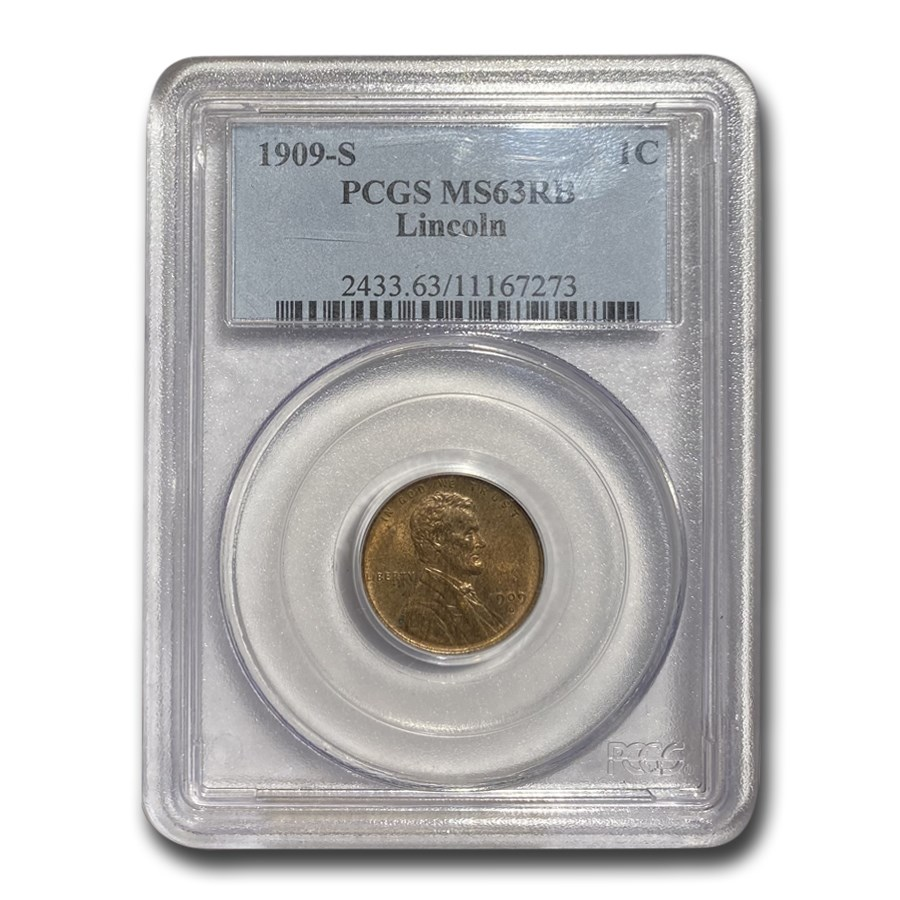 1909-S Lincoln Cent MS-63 PCGS (Red/Brown)