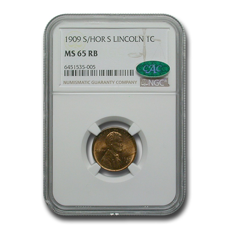 1909-S Lincoln Cent MS-65 NGC CAC (Red/Brown)