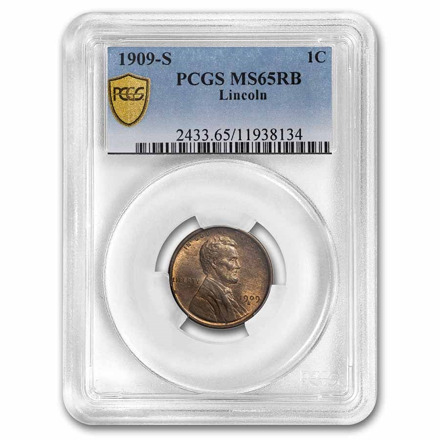 1909-S Lincoln Cent MS-65 PCGS (Red/Brown)