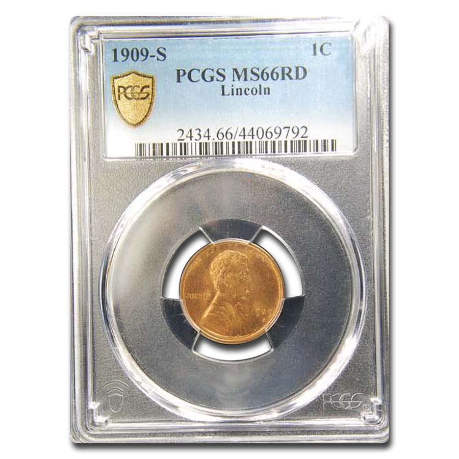 1909-S Lincoln Cent MS-66 PCGS (Red)