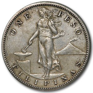 1909-S Philippines Silver Peso AU Details