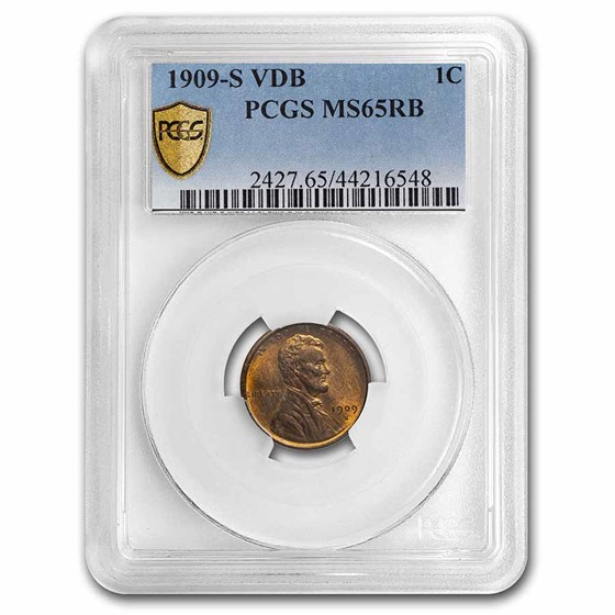 1909-S VDB Lincoln Cent MS-65 PCGS (Red/Brown)