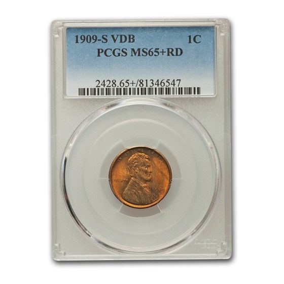 1909-S VDB Lincoln Cent MS-65+ PCGS (Red)
