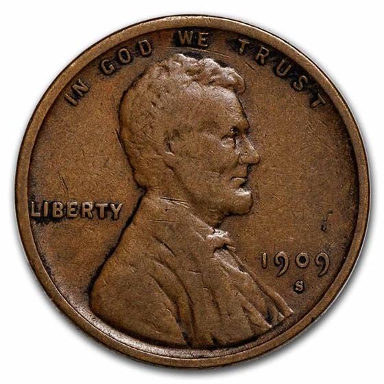1909-S VDB Lincoln Cent VF