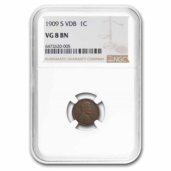 1909-S VDB Lincoln Cent VG-8 NGC