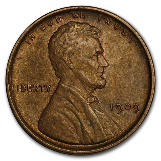 1909 VDB Lincoln Cent BU (Brown)