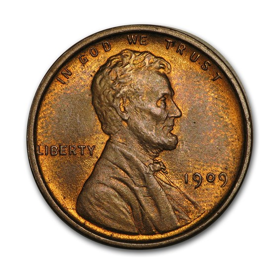 1909 VDB Lincoln Cent BU (Red)