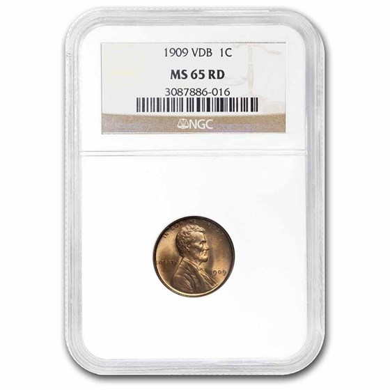1909 VDB Lincoln Cent MS-65 NGC (Red)