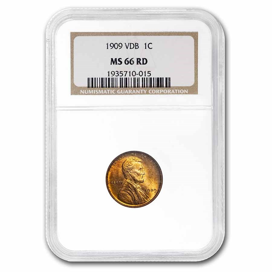 1909 VDB Lincoln Cent MS-66 NGC (Red)