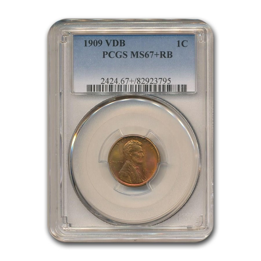 1909 VDB Lincoln Cent MS-67+ PCGS (Red/Brown)