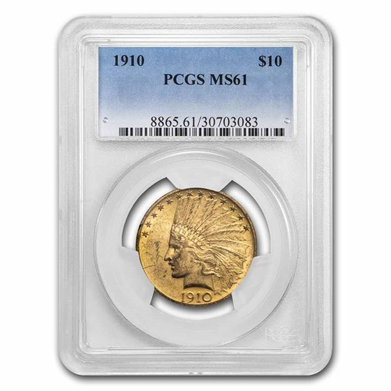 1910 $10 Indian Gold Eagle MS-61 PCGS