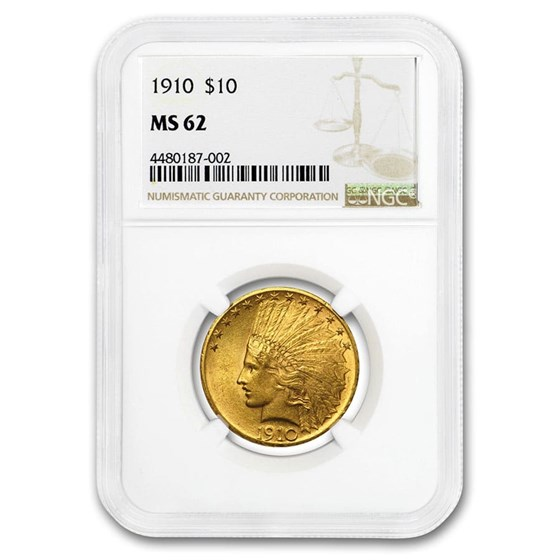 1910 $10 Indian Gold Eagle MS-62 NGC