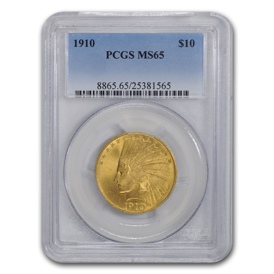 1910 $10 Indian Gold Eagle MS-65 PCGS