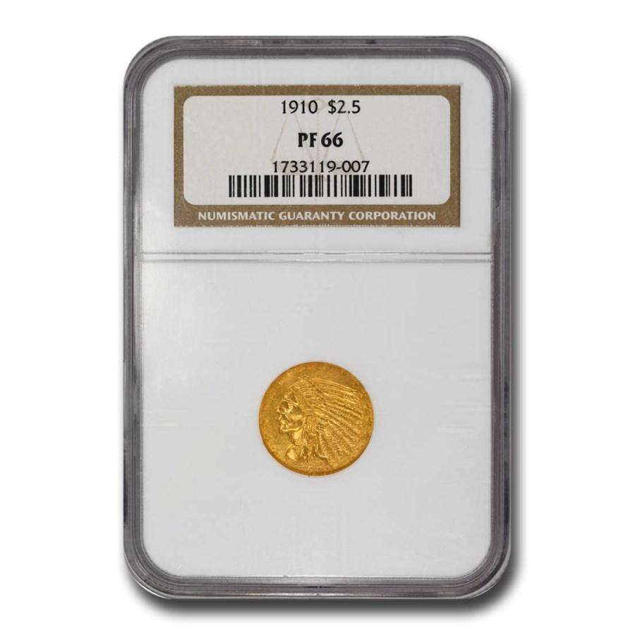 1910 $2.50 Indian Gold Quarter Eagle PF-66 NGC