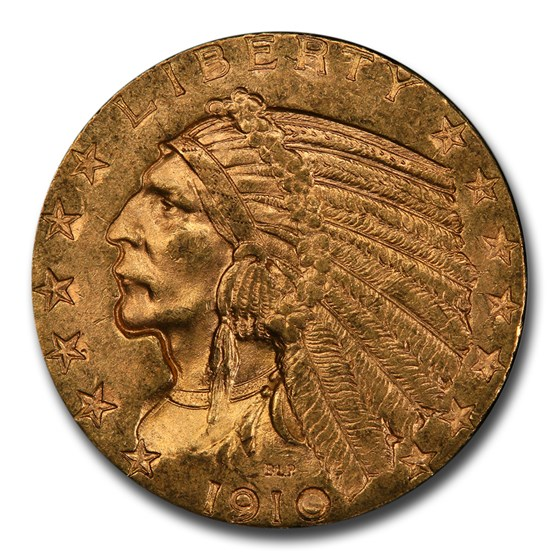1910 $5 Indian Gold Half Eagle MS-61 PCGS CAC