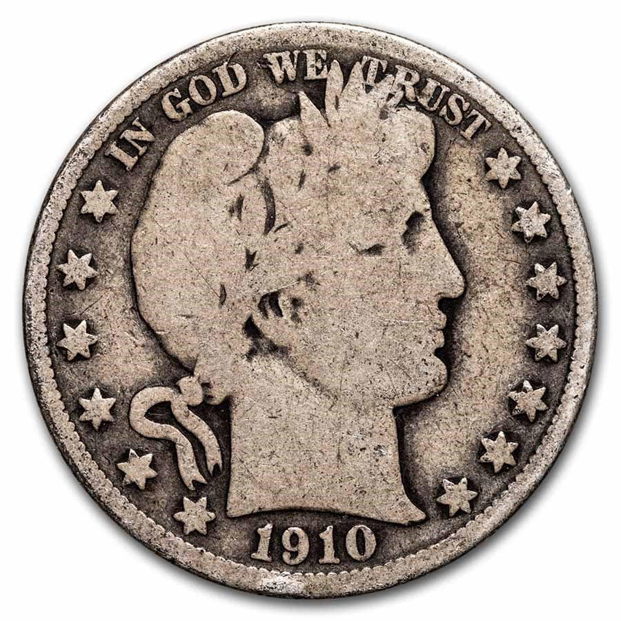 1910 Barber Half Dollar Good