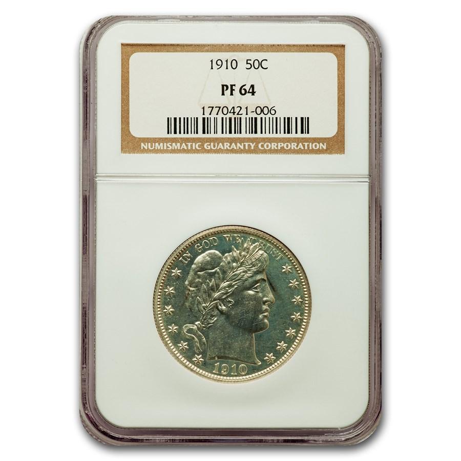 1910 Barber Half Dollar PF-64 NGC