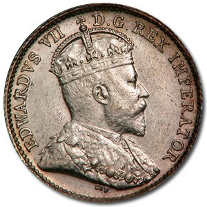 1910 Canada 5 Cents AU