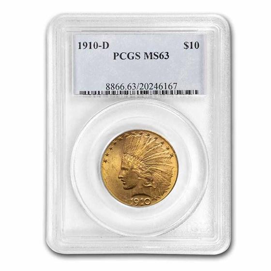 1910-D $10 Indian Gold Eagle MS-63 PCGS