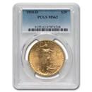 1910-D $20 Saint-Gaudens Gold Double Eagle MS-62 PCGS
