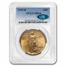 1910-D $20 Saint-Gaudens Gold Double Eagle MS-64 PCGS (CAC)