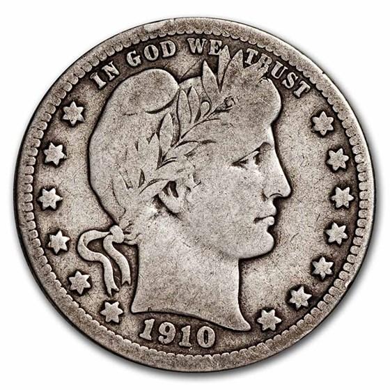 1910-D Barber Quarter VG