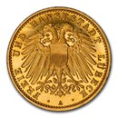 1910 German States Lubeck Gold 10 Mark PF-66 NGC (UCAM)