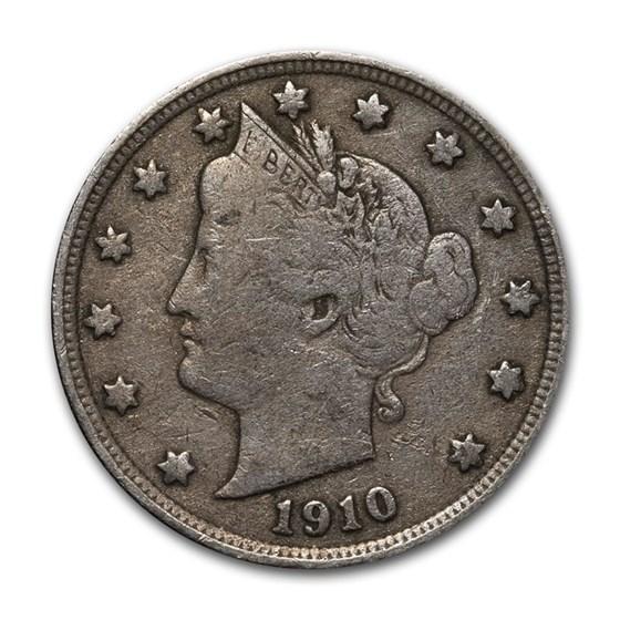 1910 Liberty Head V Nickel Good+