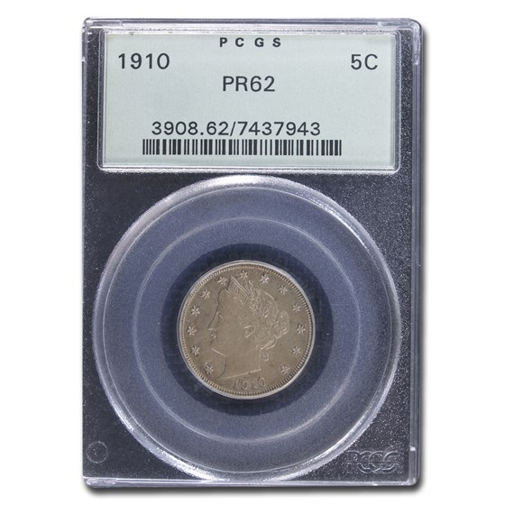 1910 Liberty Head V Nickel PR-62 PCGS