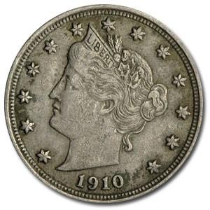 1910 Liberty Head V Nickel VF