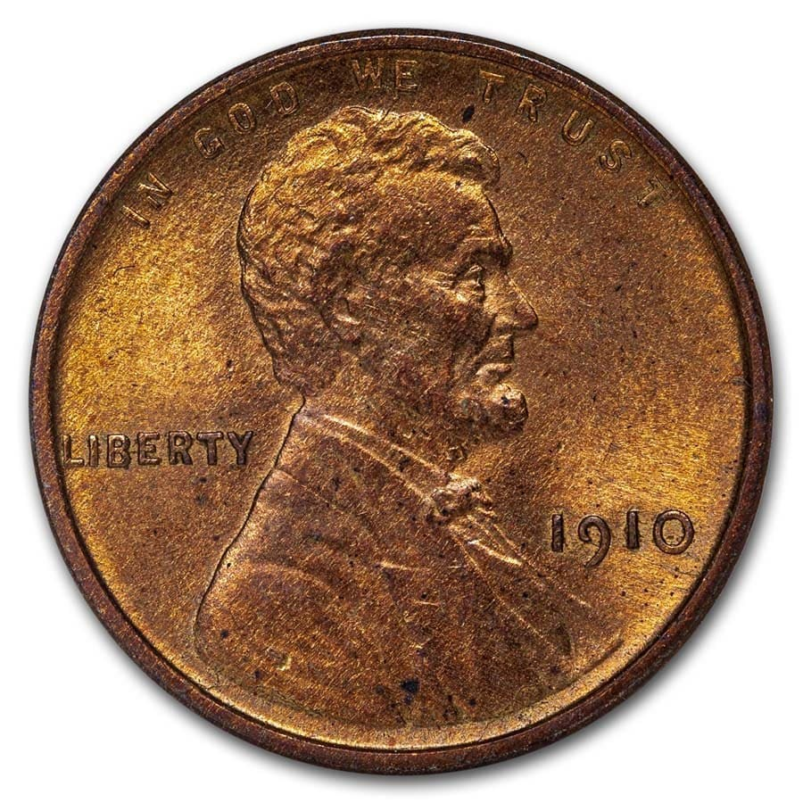 1910 Lincoln Cent BU (Red)