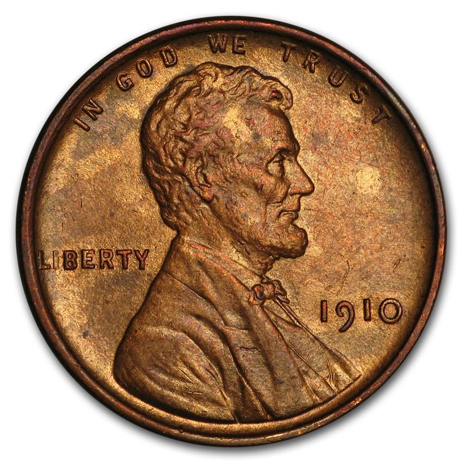 1910 Lincoln Cent BU